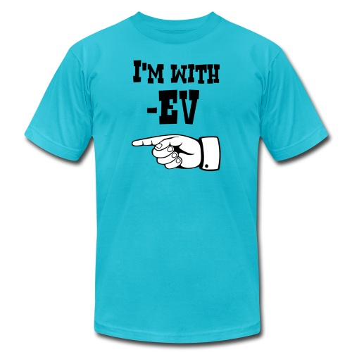 I m with EV pixel - Unisex Jersey T-Shirt by Bella + Canvas