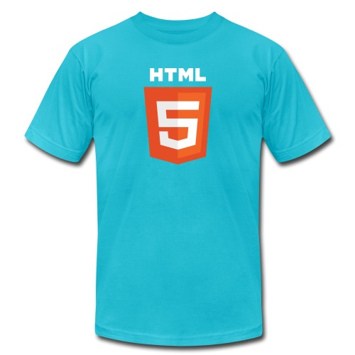 HTML5 Logo 512 whiteGrand png - Unisex Jersey T-Shirt by Bella + Canvas