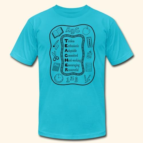 Teacher Attributes Acrostic - Men's Fine Jersey T-Shirt
