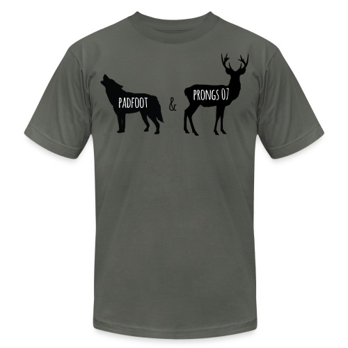 Padfoot & Prongs07 Black - Unisex Jersey T-Shirt by Bella + Canvas