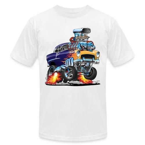 Classic Fifties Hot Rod Muscle Car Cartoon - Unisex Jersey T-Shirt by Bella + Canvas