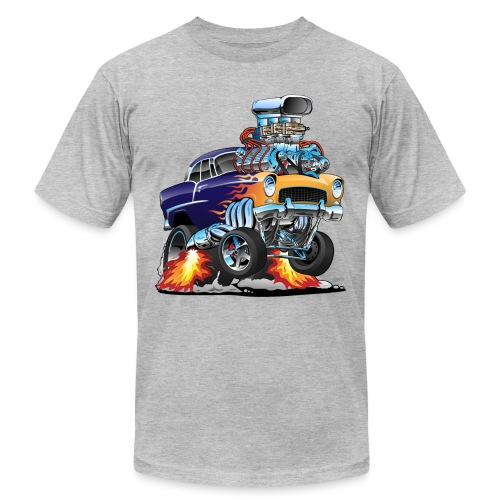 Classic Fifties Hot Rod Muscle Car Cartoon - Men's Jersey T-Shirt