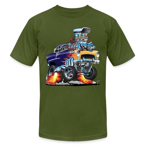 Classic Fifties Hot Rod Muscle Car Cartoon - Men's  Jersey T-Shirt