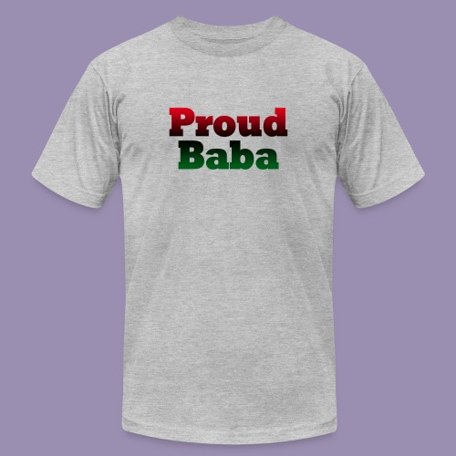Proud Baba-RBG - Unisex Jersey T-Shirt by Bella + Canvas