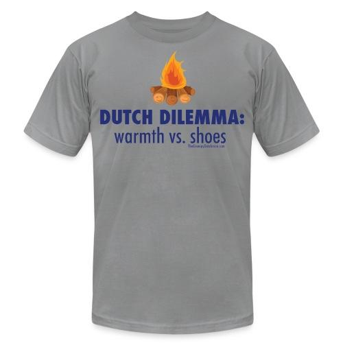 05 Dutch Dilemma blue lettering - Unisex Jersey T-Shirt by Bella + Canvas
