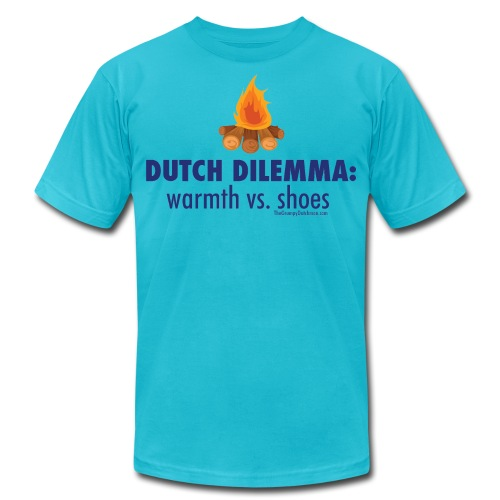05 Dutch Dilemma blue lettering - Unisex Jersey T-Shirt by Bella + Canvas