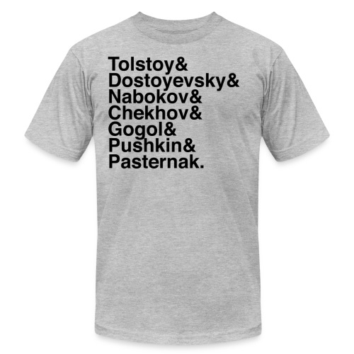 Russian Writers - Unisex Jersey T-Shirt by Bella + Canvas