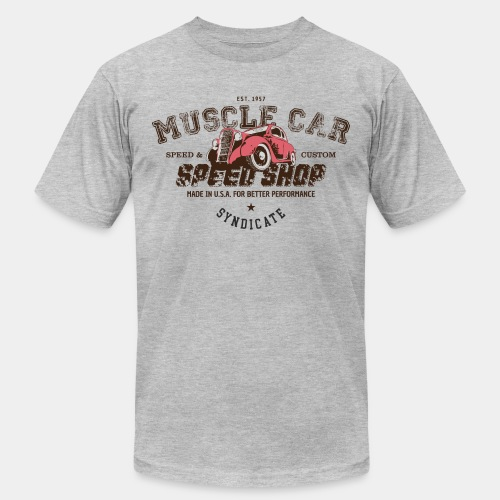 muscle car - Unisex Jersey T-Shirt by Bella + Canvas
