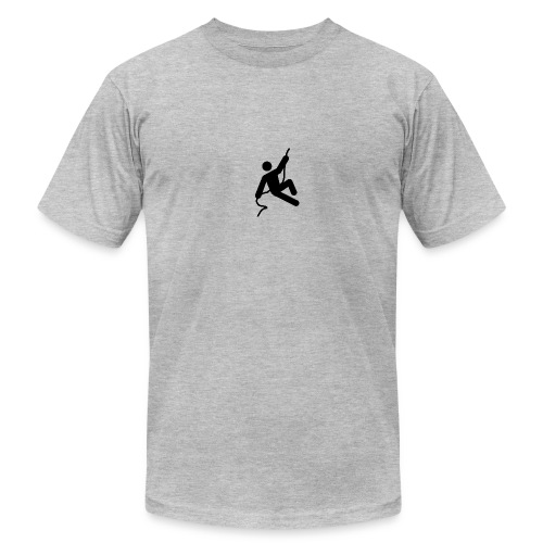 man on rope png - Unisex Jersey T-Shirt by Bella + Canvas