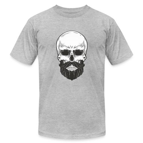 Skull with beard - Men's  Jersey T-Shirt