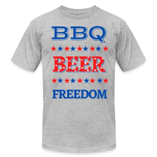 BBQ BEER FREEDOM - Unisex Jersey T-Shirt by Bella + Canvas