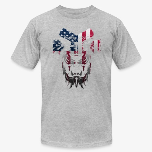American Flag Lion Shirt - Unisex Jersey T-Shirt by Bella + Canvas