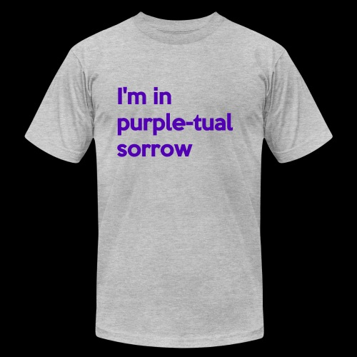 Purple-tual sorrow - Unisex Jersey T-Shirt by Bella + Canvas