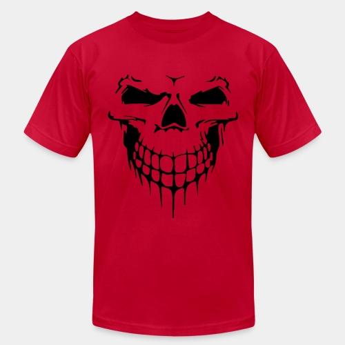 skull rock metal face - Unisex Jersey T-Shirt by Bella + Canvas