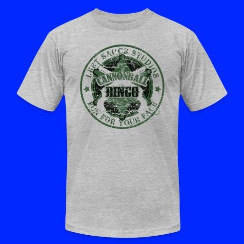 Vintage Cannonball Bingo Badge Dark Green - Unisex Jersey T-Shirt by Bella + Canvas