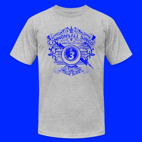 Vintage Cannonball Bingo Crest Blue - Men's  Jersey T-Shirt