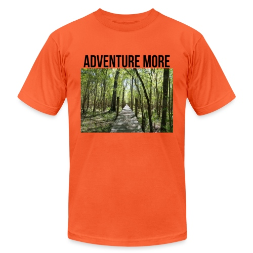 adventure more - Unisex Jersey T-Shirt by Bella + Canvas