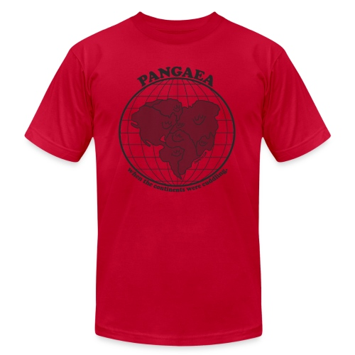 Pangaea Grey by Dan Meth - Unisex Jersey T-Shirt by Bella + Canvas