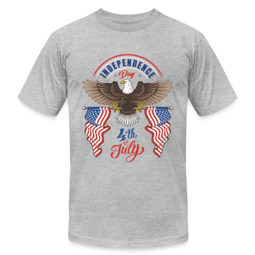 independence day 4 july - Unisex Jersey T-Shirt by Bella + Canvas