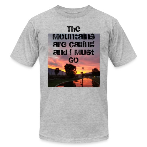 mountains - Unisex Jersey T-Shirt by Bella + Canvas