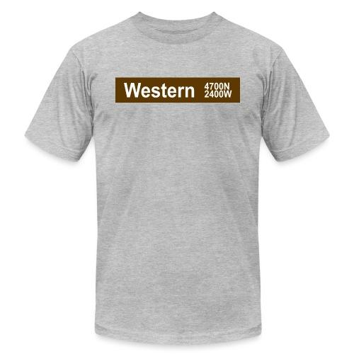 Western CTA Brown Line - Men's Jersey T-Shirt