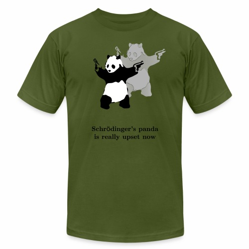Schrödinger's panda is really upset now - Men's Jersey T-Shirt
