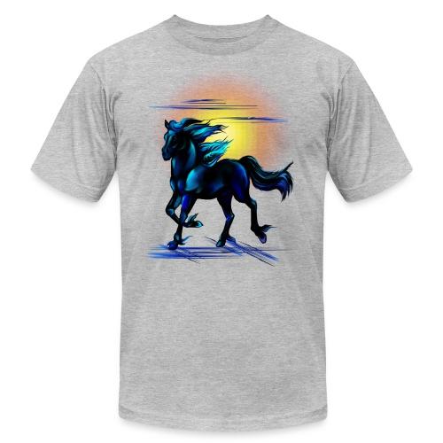 Black Horse - Unisex Jersey T-Shirt by Bella + Canvas