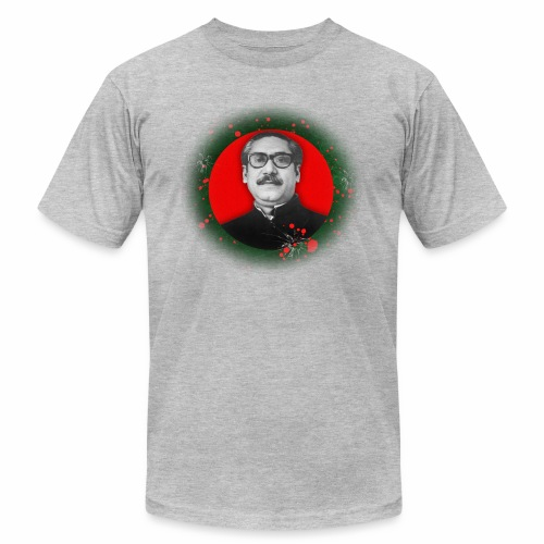 Bangabandhu inside red circle of flag - Men's  Jersey T-Shirt