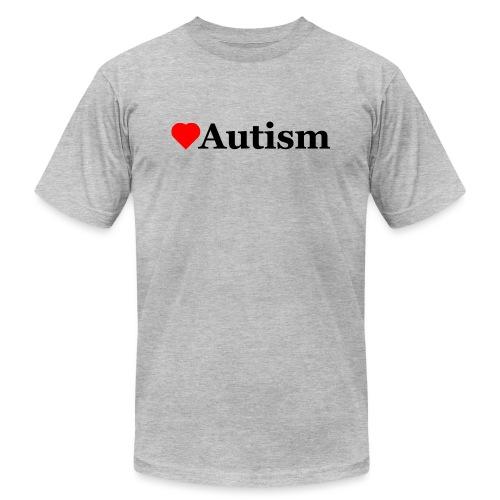 Heart Autism b - Unisex Jersey T-Shirt by Bella + Canvas