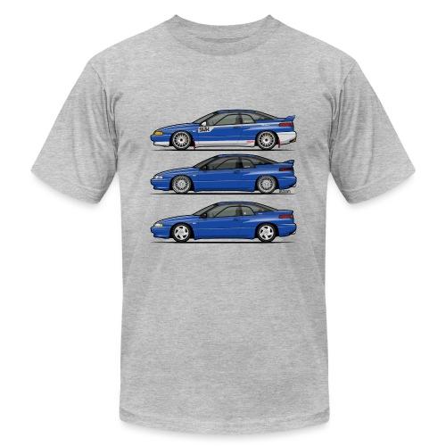 Subie Alcyone SVX Laguna Blue Pearl Trio - Unisex Jersey T-Shirt by Bella + Canvas
