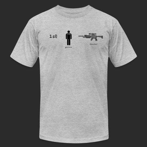1st Person Shooter Logo png - Unisex Jersey T-Shirt by Bella + Canvas