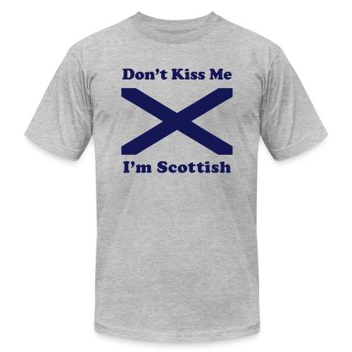 Don't Kiss Me, I'm Scottish - Unisex Jersey T-Shirt by Bella + Canvas