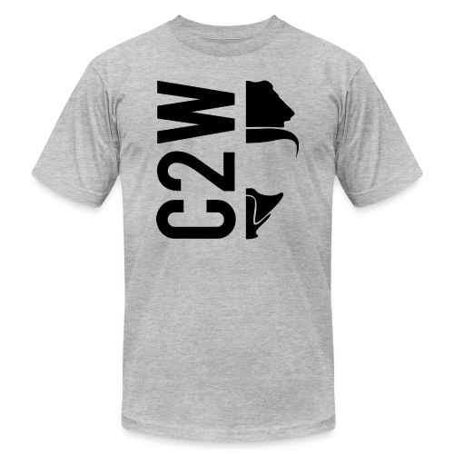 C2W Split Logo - Black - Premium Tee - Unisex Jersey T-Shirt by Bella + Canvas