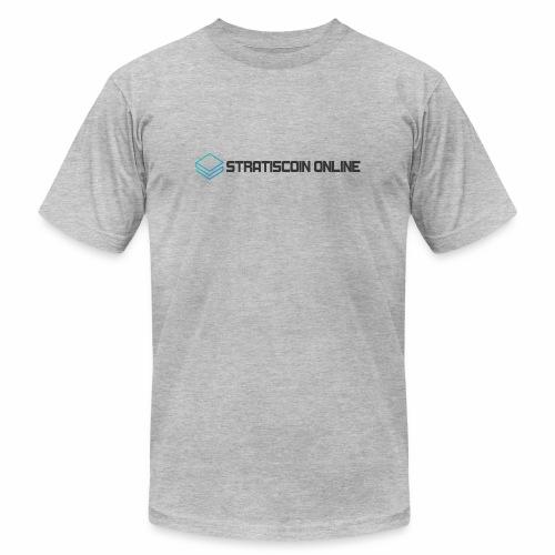 stratiscoin online dark - Unisex Jersey T-Shirt by Bella + Canvas