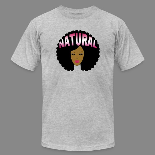 Natural Afro (Pink) - Unisex Jersey T-Shirt by Bella + Canvas