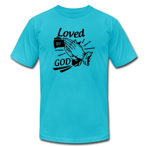 Loved By God (Black Letters) - Unisex Jersey T-Shirt by Bella + Canvas