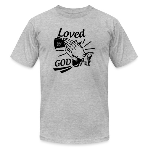 Loved By God (Black Letters) - Men's Jersey T-Shirt