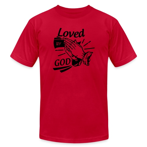 Loved By God (Black Letters) - Men's Jersey T-Shirt