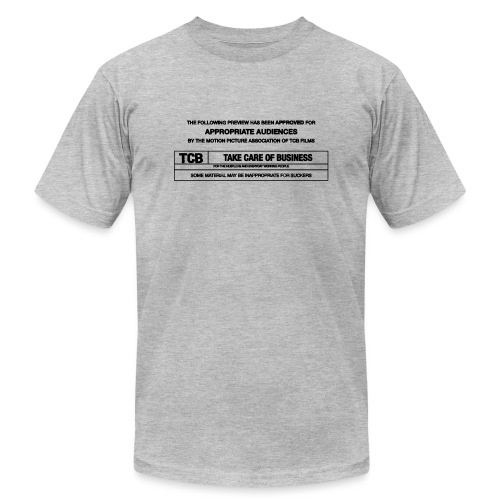 TCB Films Disclamer - Unisex Jersey T-Shirt by Bella + Canvas