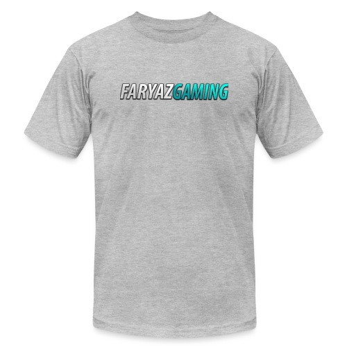 FaryazGaming Theme Text - Unisex Jersey T-Shirt by Bella + Canvas