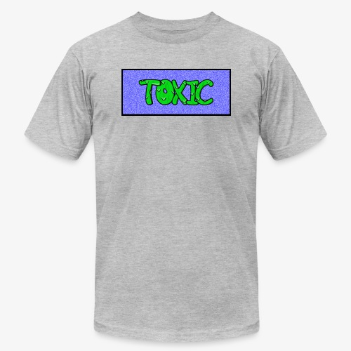Toxic design v2 Blue - Unisex Jersey T-Shirt by Bella + Canvas