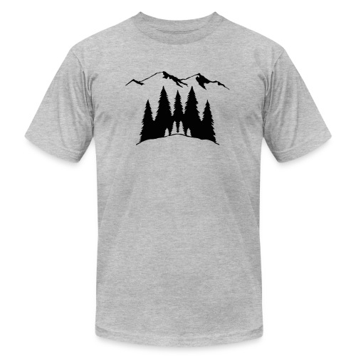 Mountains Trees - Unisex Jersey T-Shirt by Bella + Canvas