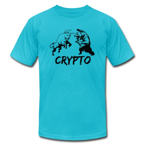 CryptoBattle Black - Men's Jersey T-Shirt