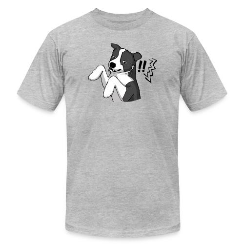 Surprised Border Collie - Unisex Jersey T-Shirt by Bella + Canvas