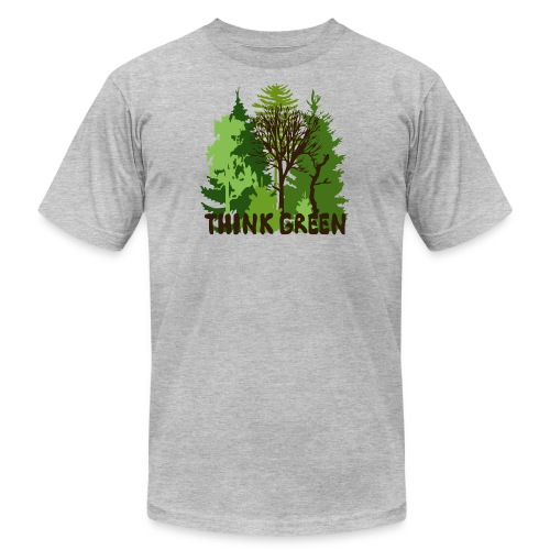 EARTHDAYCONTEST Earth Day Think Green forest trees - Unisex Jersey T-Shirt by Bella + Canvas