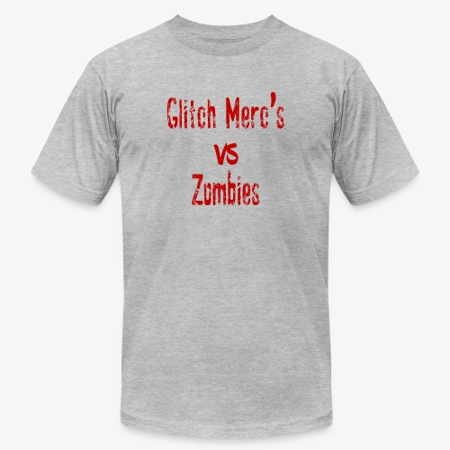 glitch zombie red - Unisex Jersey T-Shirt by Bella + Canvas