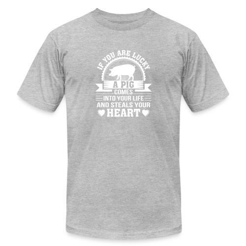 Mini Pig Comes Your Life Steals Heart - Men's Jersey T-Shirt