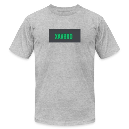 xavbro green logo - Unisex Jersey T-Shirt by Bella + Canvas