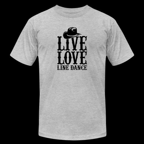 Live Love Line Dancing - Unisex Jersey T-Shirt by Bella + Canvas