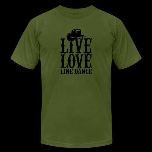 Live Love Line Dancing - Unisex Jersey T-Shirt by Bella + Canvas